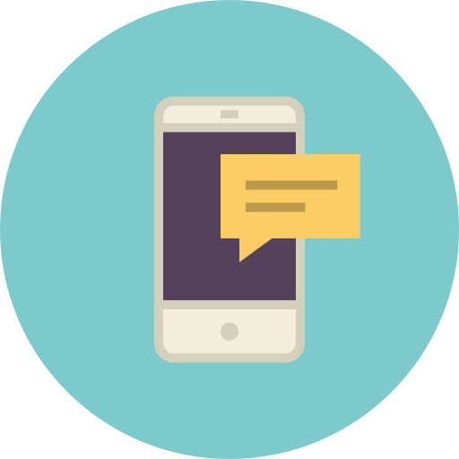 Icono Mensaje De Telefono Gratis De Flat Retro Communications Icons