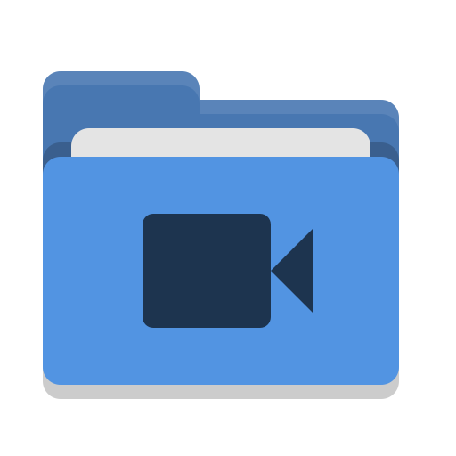 Icono Carpeta, Azul, Video Gratis De Papirus Places