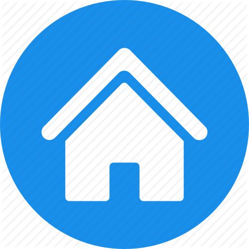 Address, Apartment, Blue, Casa, Circle, Home, Homepage Icon