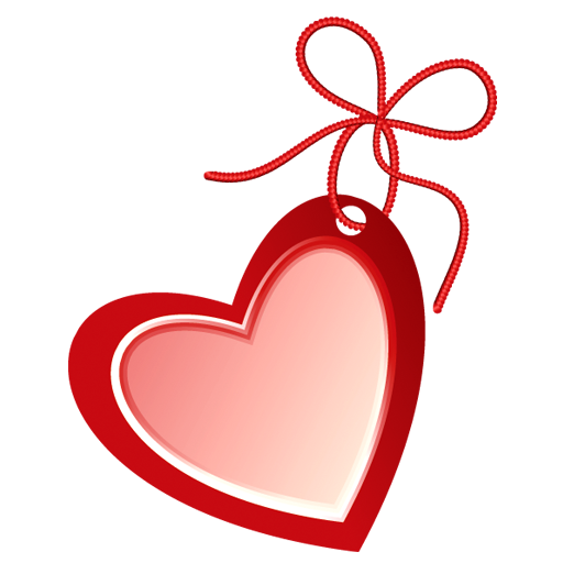 Red Heart Shaped Label Icons Download Free Icons