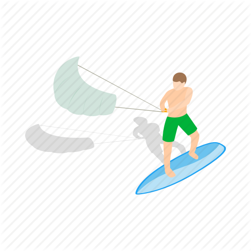 Board, Isometric, Kite, Kitesurfing, Surf, Surfboard, Wind Icon