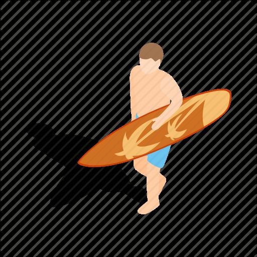 Board, Isometric, Sea, Sport, Surf, Surfboard, Surfer Icon