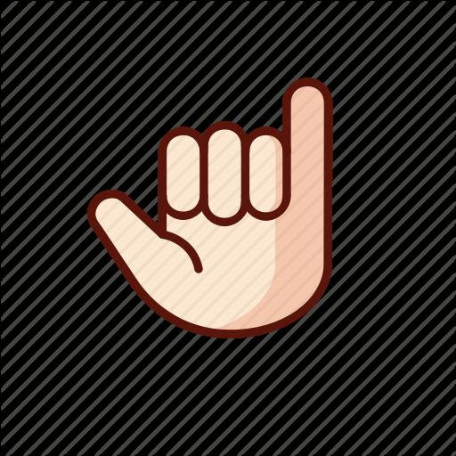 Gesture, Hand, Shaka, Surf Icon