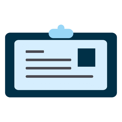 Identity Card Square Icon