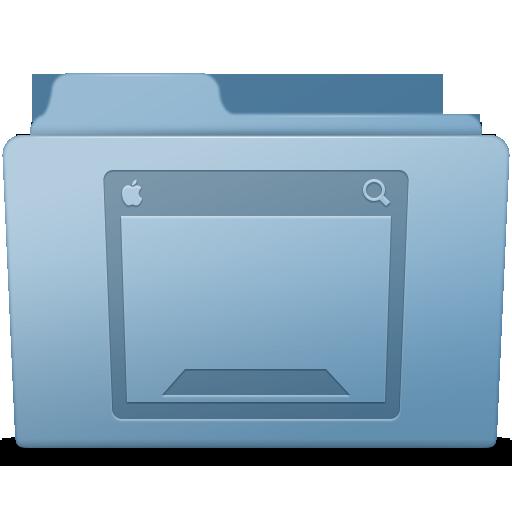 Desktop Folder Blue Icon Smooth Leopard Iconset Mcdo Design
