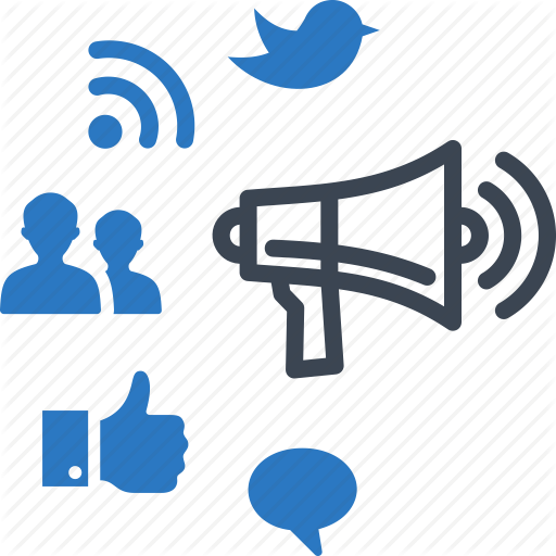 Advertising, Marketing, Networking, Social Media Icon