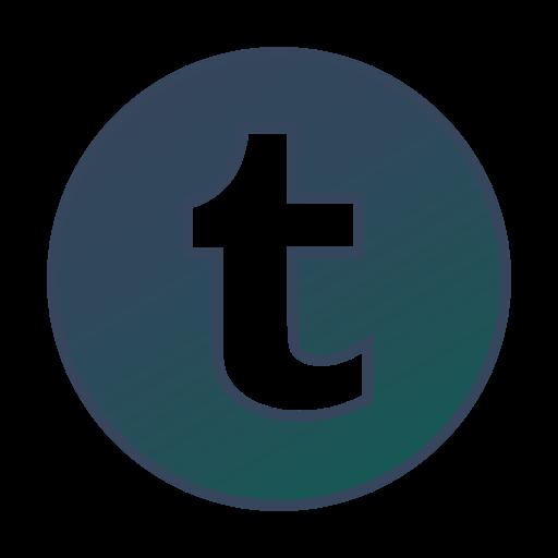 Circle, Gradient, Gradient Icon, Icon, Social Media, Tumblr Icon