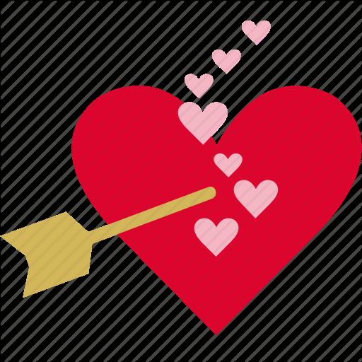 Arrow, Cupid, Fall In Love, Heart, Romance, True Love Icon