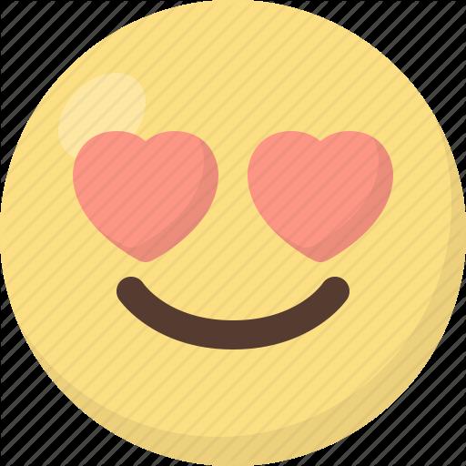 Emoji, In, Love Icon