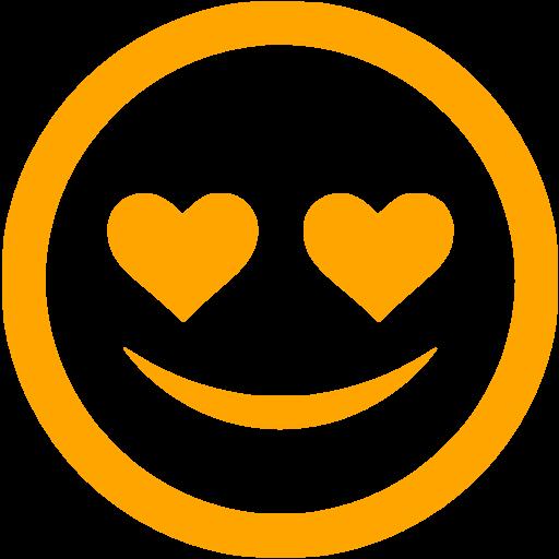 Orange In Love Icon