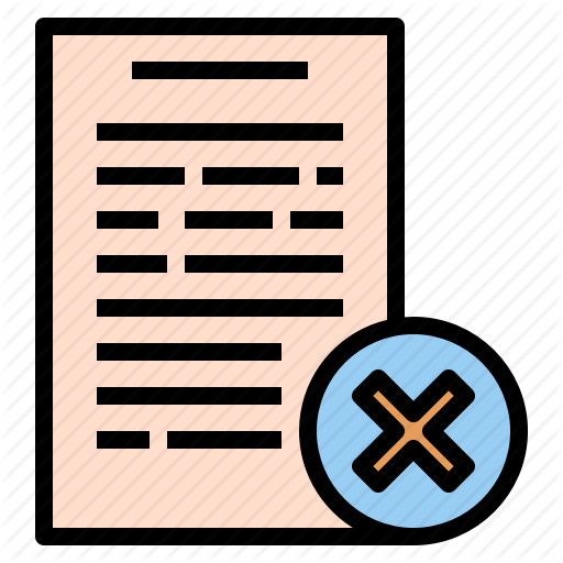 Data, Document, Incomplete, Reject, Wrong Icon