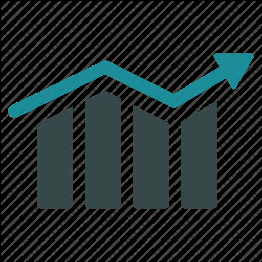 Arrow, Bar Chart, Diagram, Graph, Growth, Progress, Trend Icon