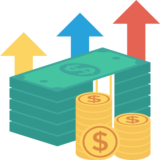 Increase Icon Banking And Finance Dinosoftlabs