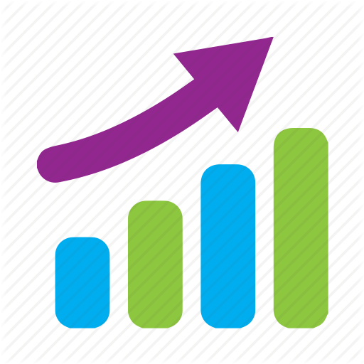 Barchart, Graph, Increase, Rise, Stats, Trend Icon