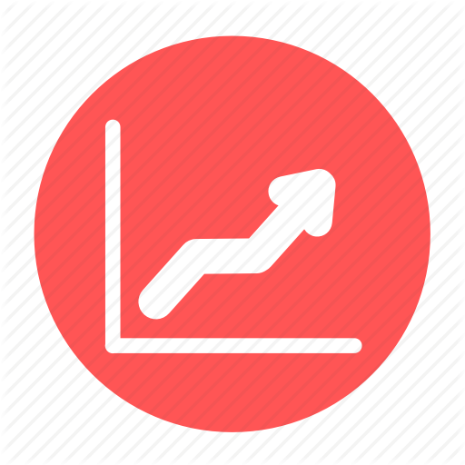 Business, Circle, Graph, Increase, Line, Office, Profit Icon