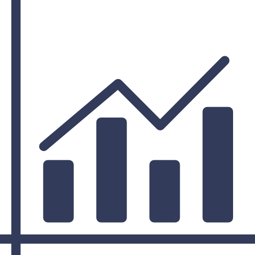 Graph, Bars, Increase, Info, Statistics, Business, Charts Icon