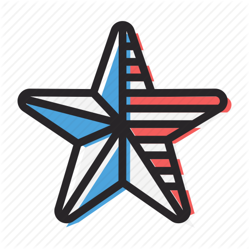 America, American, Flag, Independence Day, July Star Icon