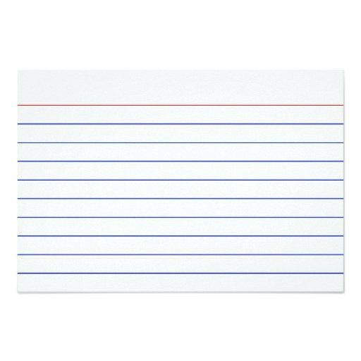 Index Card Template Word Templates For Cards Printing