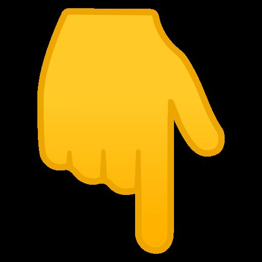 Backhand Index Pointing Down Icon Noto Emoji People Bodyparts