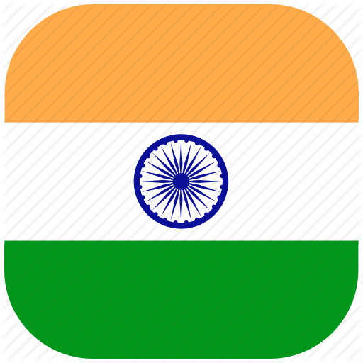 Country, Flag, India, Indian, National, Rounded, Square Icon