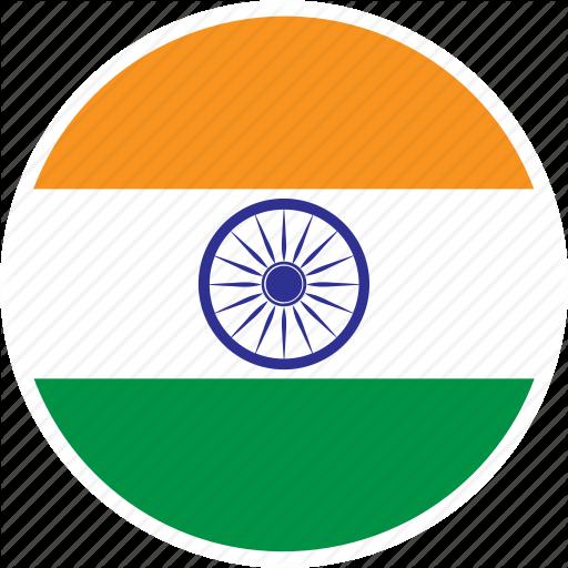 Asia, Country, Flag, India, Nation, Round Icon