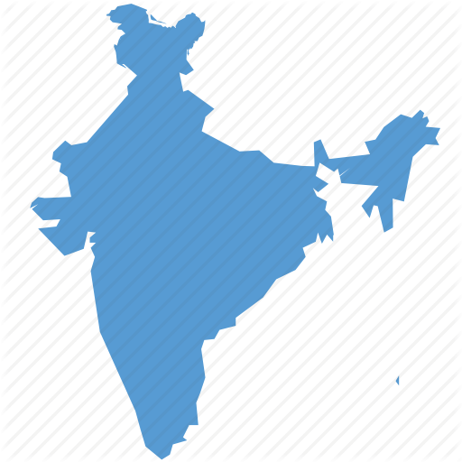 Country, India, Kashmir, Map, Navigation, With Icon