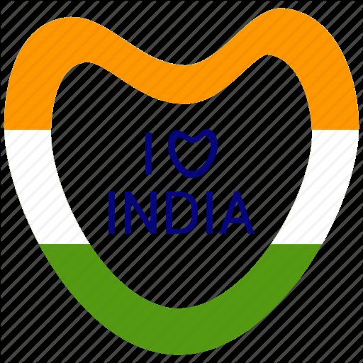 Heart, I Love India, India, Republic Day Icon