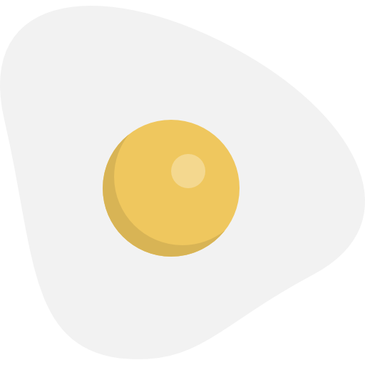 Food And Restaurant, Food, Protein, Organic, Fried Egg Icon