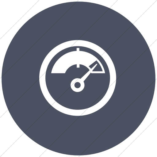 Flat Circle White On Blue Gray Classica Indicator Gauge