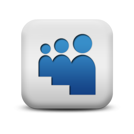 Myspace Icon From The Matte Blue And White Square Icons Collection