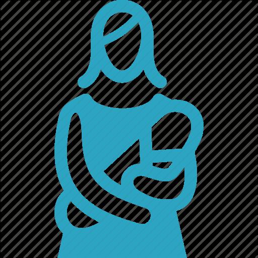 Baby, Infant, Mother, Pediatrics Icon