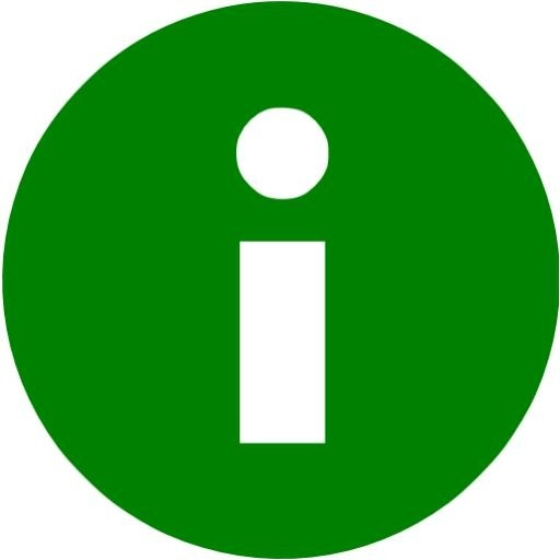 Information Icon Green