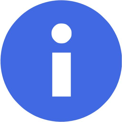 Royal Blue Info Icon