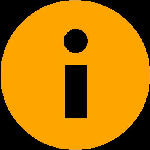 Orange Info Icon