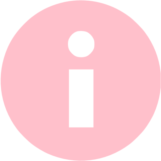 Pink Info Icon