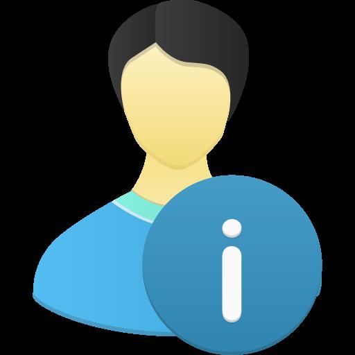 Male User Info Icon