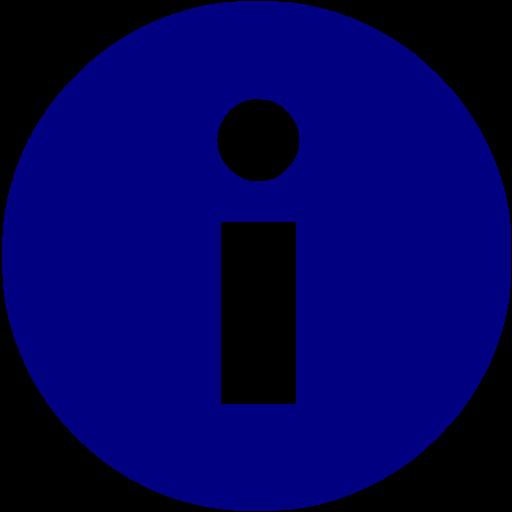 Navy Blue Info Icon