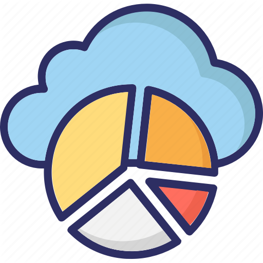 Cloud Infographic, Infographic Library, Online Graphs, Pie Chart Icon