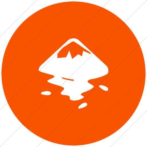 Flat Circle White On Orange Raphael Inkscape Icon
