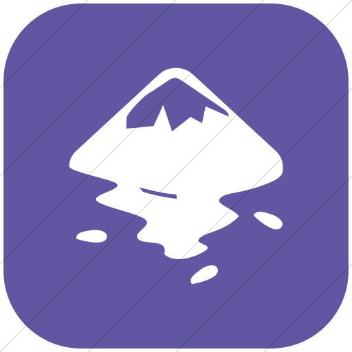 Flat Rounded Square White On Purple Raphael Inkscape Icon