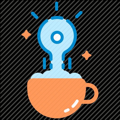 Cappuccino, Coffee, Creative, Cup, Drink, Idea, Inspiration Icon