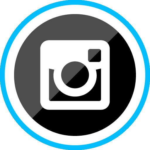 Instagram Free Sleak Blue Round Social Media Icon