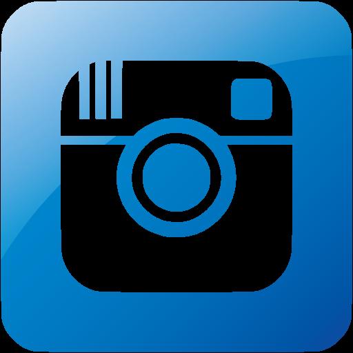 Web Blue Instagram Icon