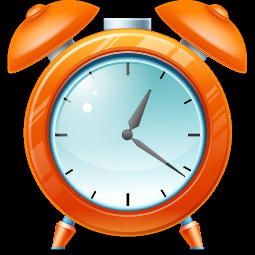Cartoon Kid Alarm Clock Icon