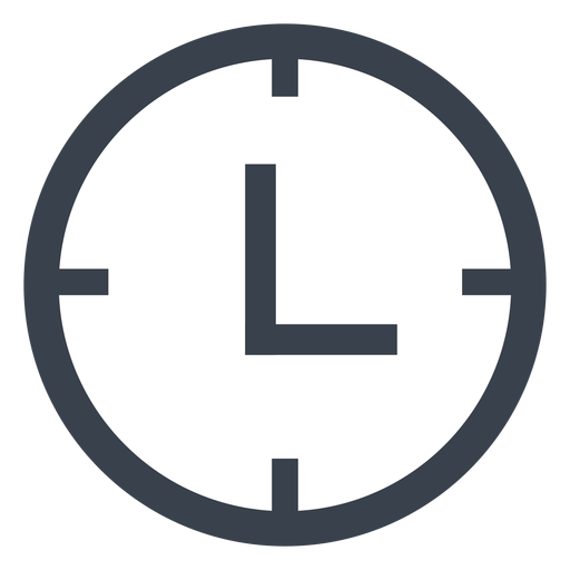 Flat Clock Icon Png