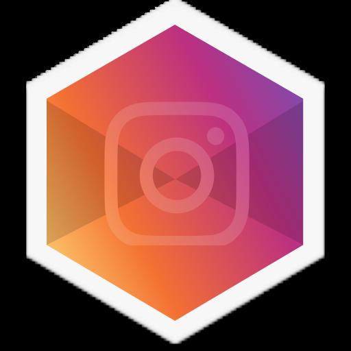 Colorful, Instagram, Hexagon Icon