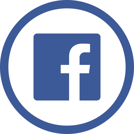 Black Facebook Icon Circle