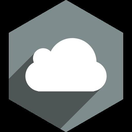 Cloud, Hexagon, Media, Shadow, Social Icon