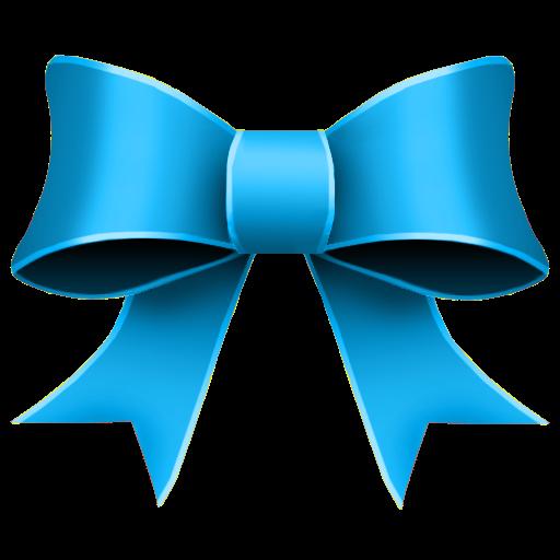 Ribbon, Blue, Christmas Icon Free Of Christmas Icons