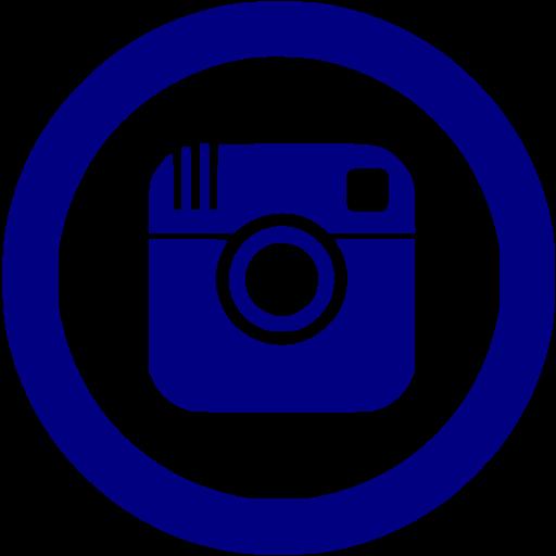 Navy Blue Instagram Icon